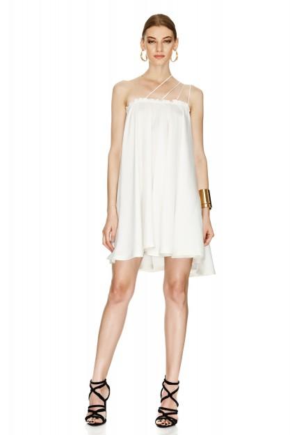 Off White Linen Dress