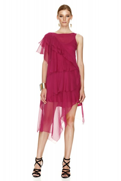 Fuchsia Silk Dress