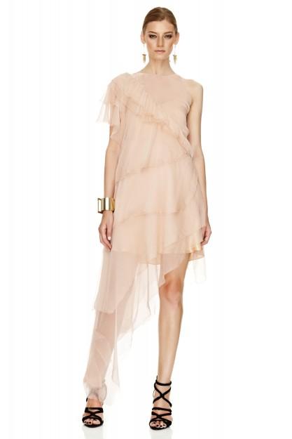 Pink Silk Long Dress