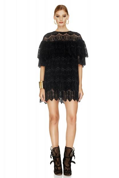 Black Velvet Lace Dress