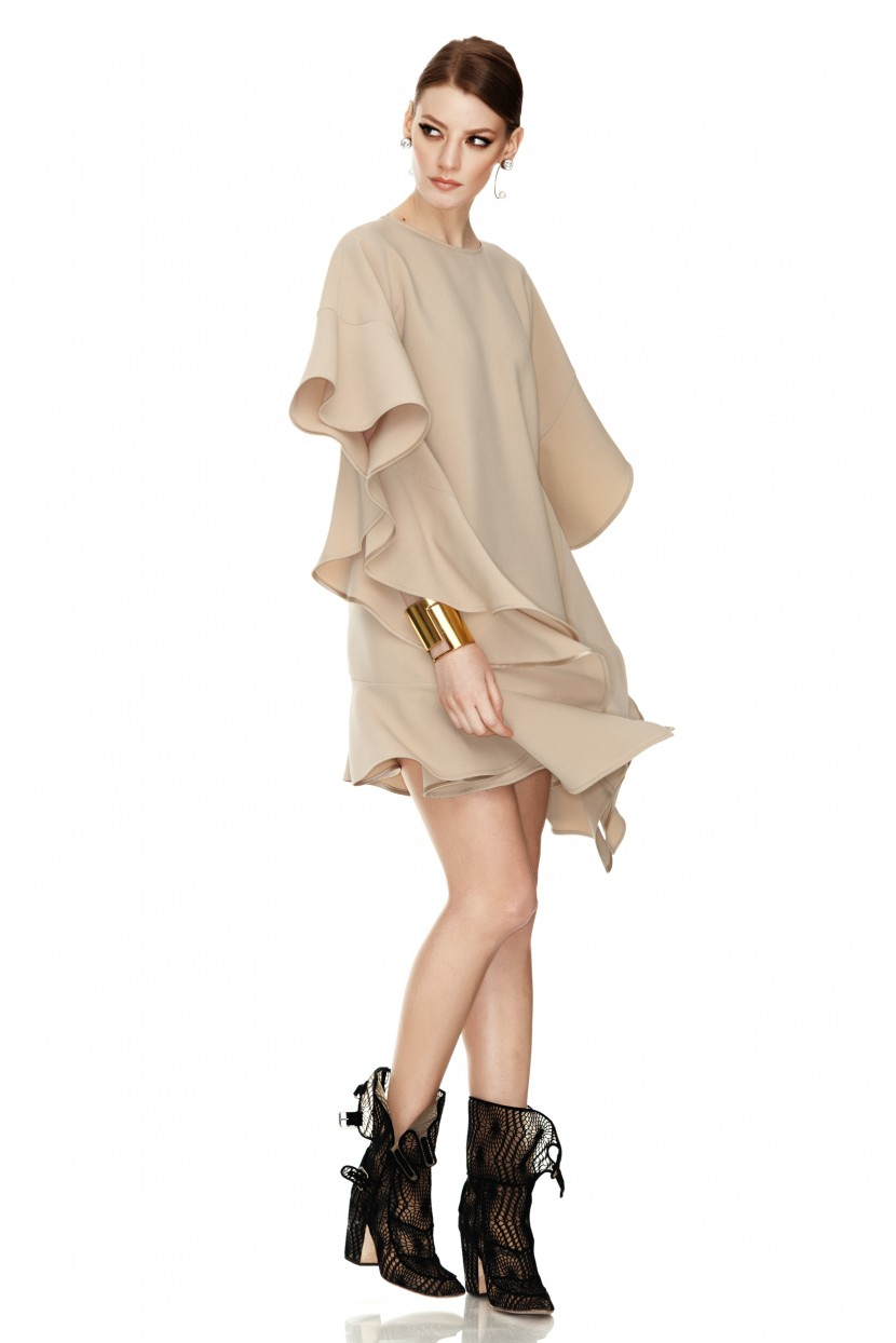 Beige Mini Dress - PNK Casual