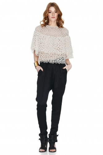 Off White Lace Blouse - PNK Casual