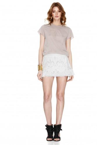 White Lace Mini Skirt - PNK Casual