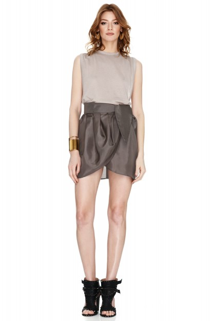 Brown Wrap Skirt