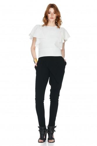 Black Tapered Viscose Pants - PNK Casual
