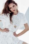 White Guipure Lace Mini Dress