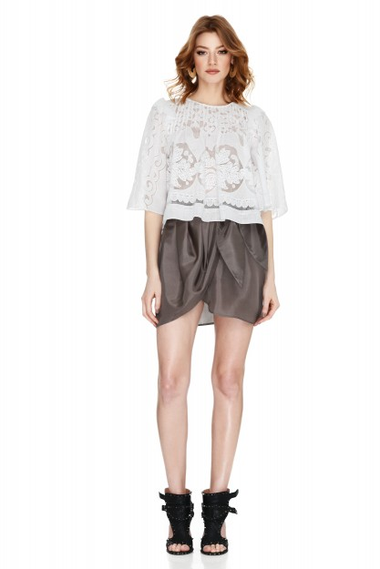 White Guipure Lace Blouse
