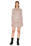 Rose Chantilly Lace Mini Dress