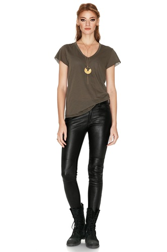 Black Leather Pants - PNK Casual