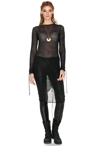 Black Soft Wool Dress - PNK Casual