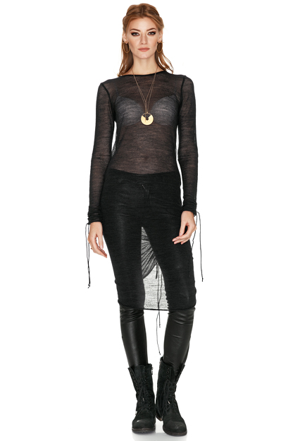 Black Soft Wool Dress