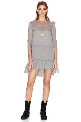 Light Grey Silk Dress - PNK Casual
