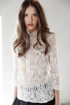White Crocheted Lace Top