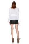 White Wrap-Effect Shirt