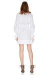 White Cotton Poplin Mini Dress