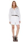 White Cotton Poplin Dress