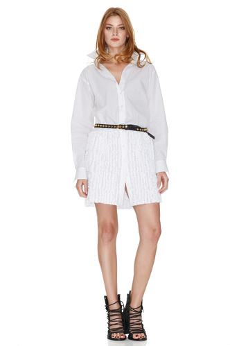White Cotton Poplin Dress - PNK Casual